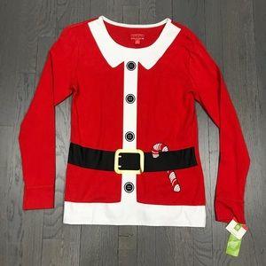 NWT Christmas Santa Claus Sleepwear Santacon Top